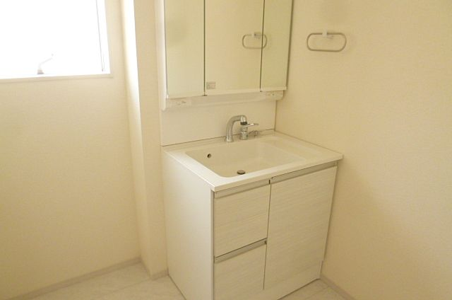 収納たっぷりシャワー付き洗面台