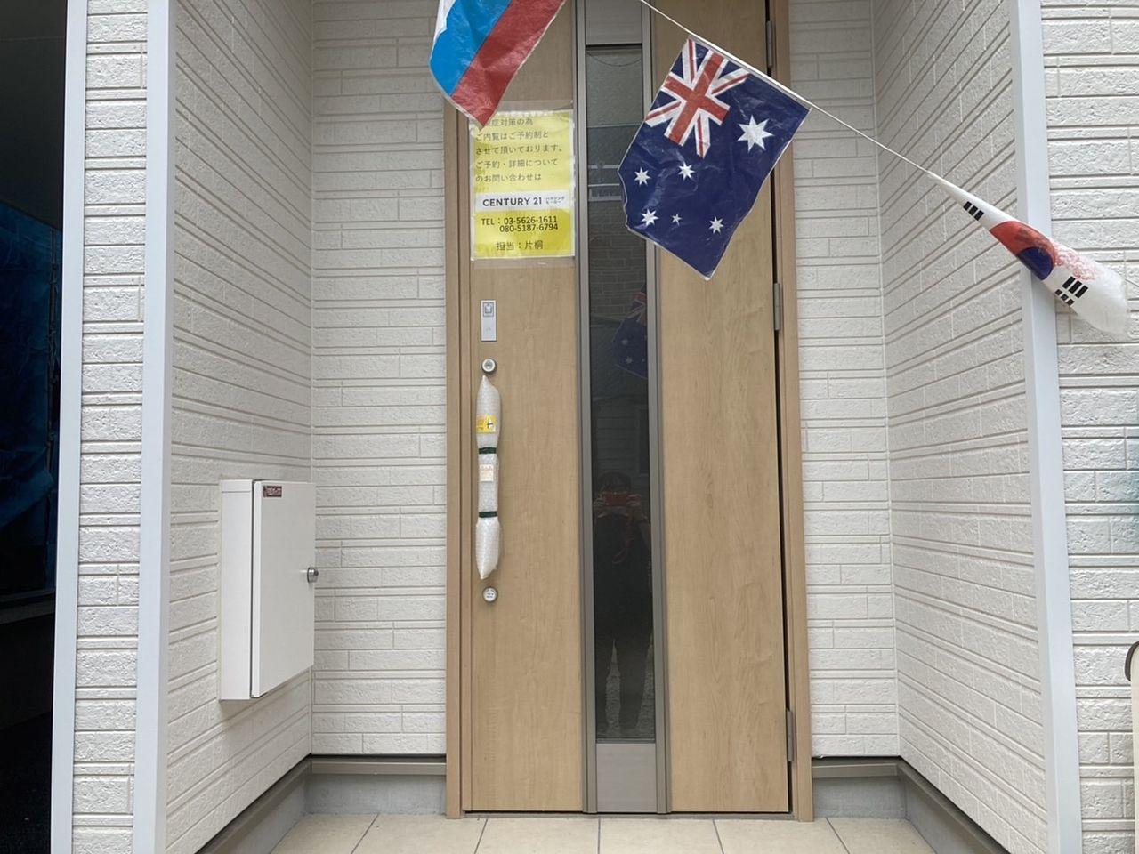 オシャレな玄関ドア